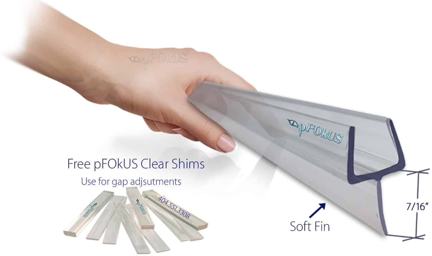 DS32225 Frameless Shower Door Sweep | pFOkUS