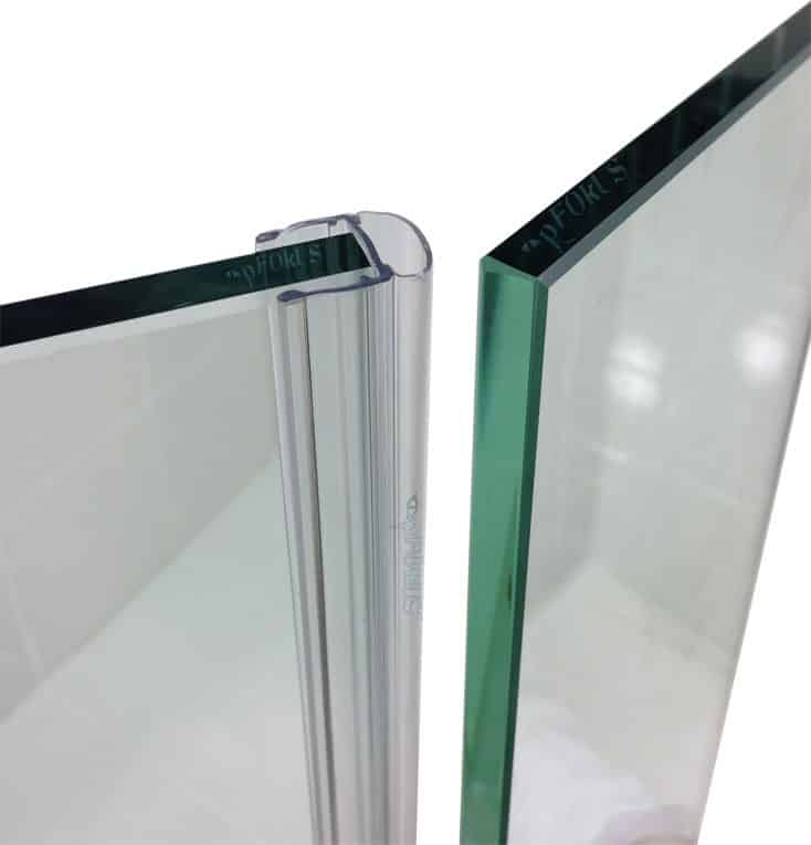 Frameless Seamless Glass Shower Door Sweep Seal
