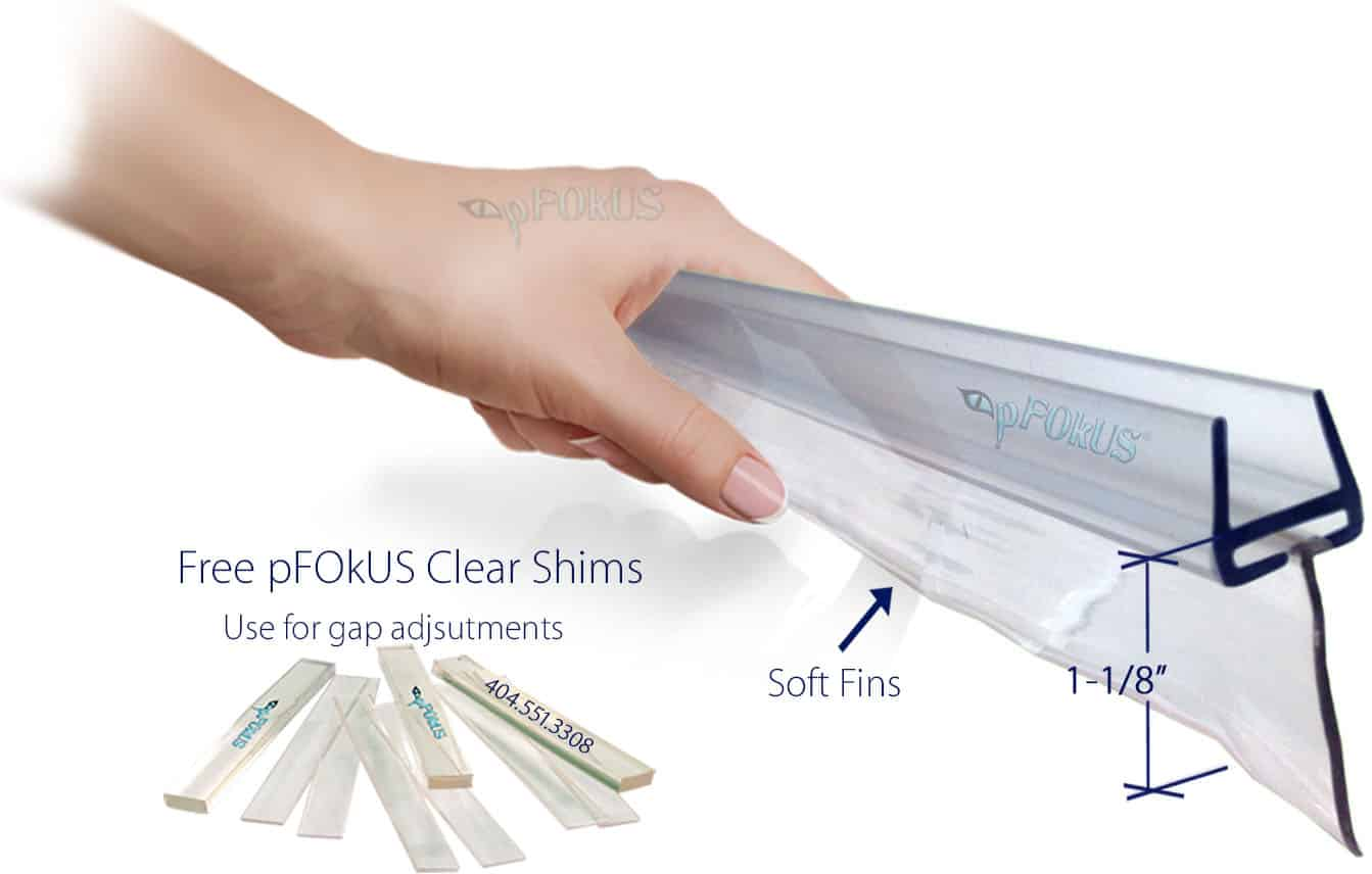 Glass Shower Door Sweep Seals Wipe Replacement Plastic Piece Pfokus Quality  Gap