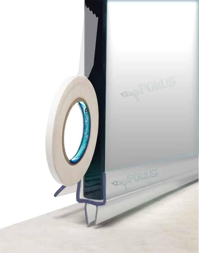 waterproof double sided tape shower door sweep seals pfokus quality