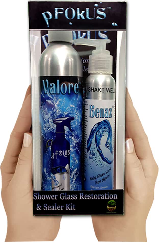 benaz valore cleaner sealer glass hard water prevention shower glass