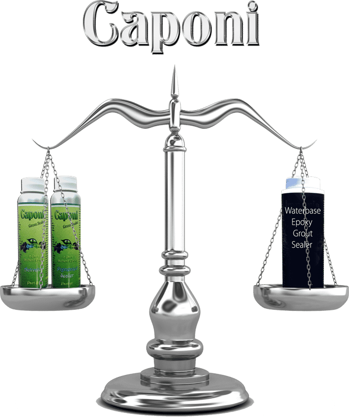 Caponi Titanium Epoxy Grout Sealer with Color vs Water Base Epoxy Grout Sealer