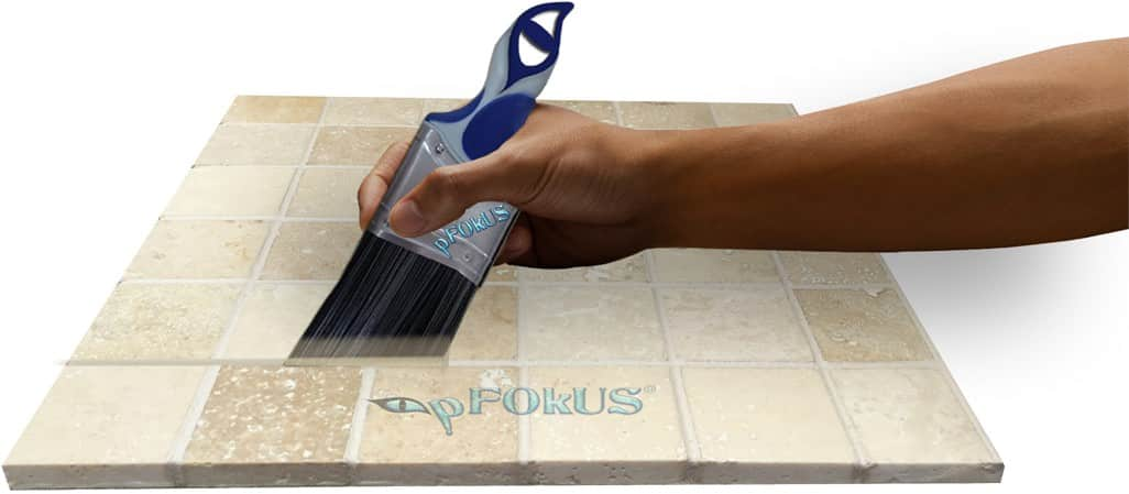 pFOKUS color seal travertine floor cleaning restoring