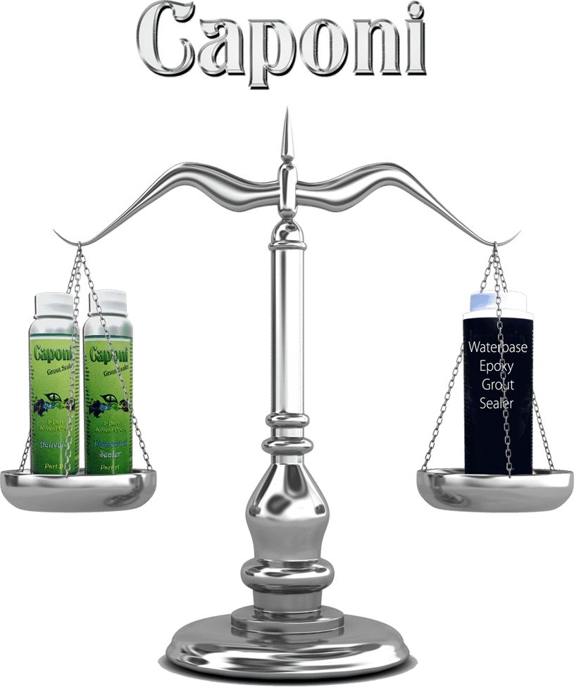 Caponi Grout Sealer vs Water Base Sealer