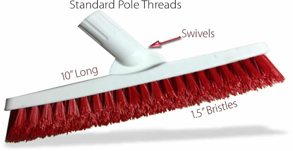 Swiveled Tile Grout Brush with Chemical Resistant Bristles