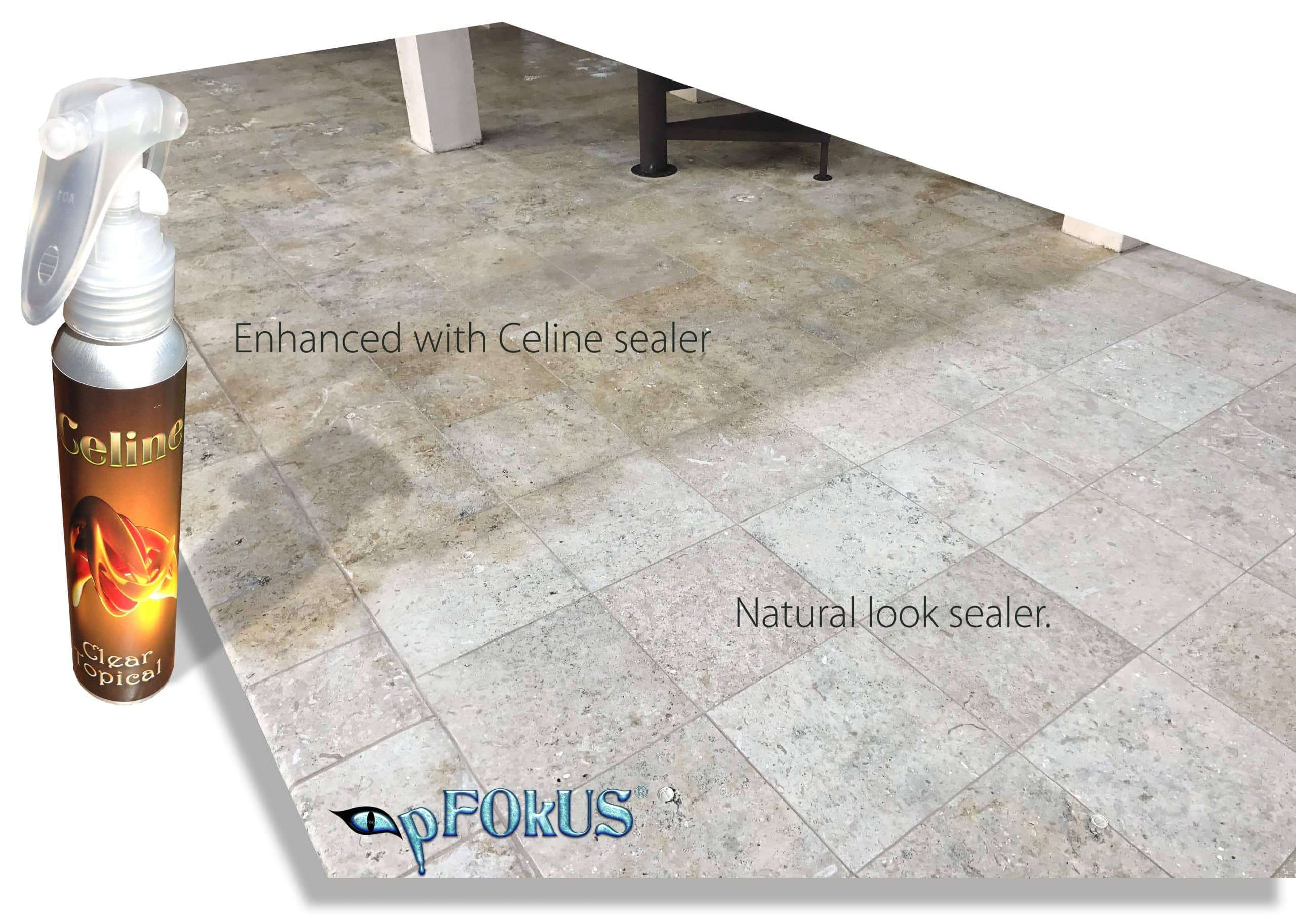 pFOkUS Enhance Celine Sealer Travertine Limestone