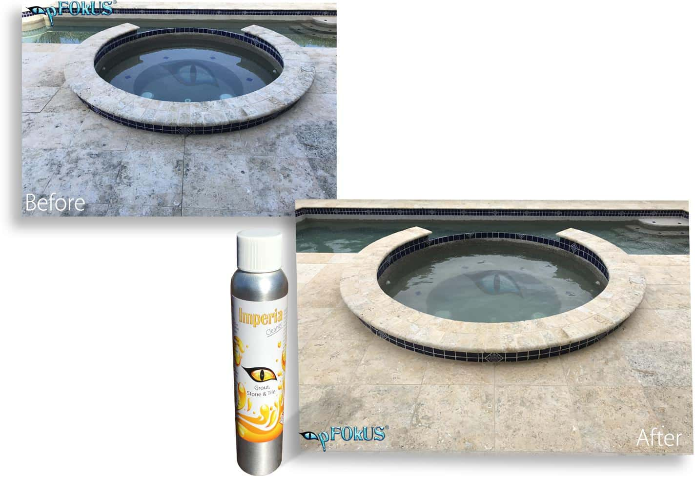 pFOkUS Pool Limestone Travertine Stone Restoration