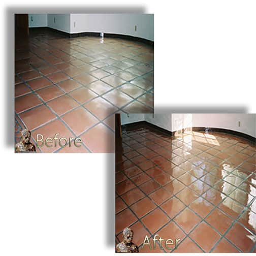Saltillo Mexican Tile Restoration Services Sealing Cleaning