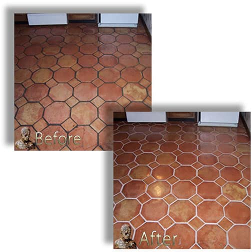Saltillo Mexican Tile Restoration Services Sealing