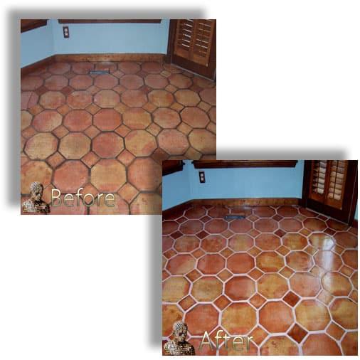 Saltillo Mexican Tile Restoration Services