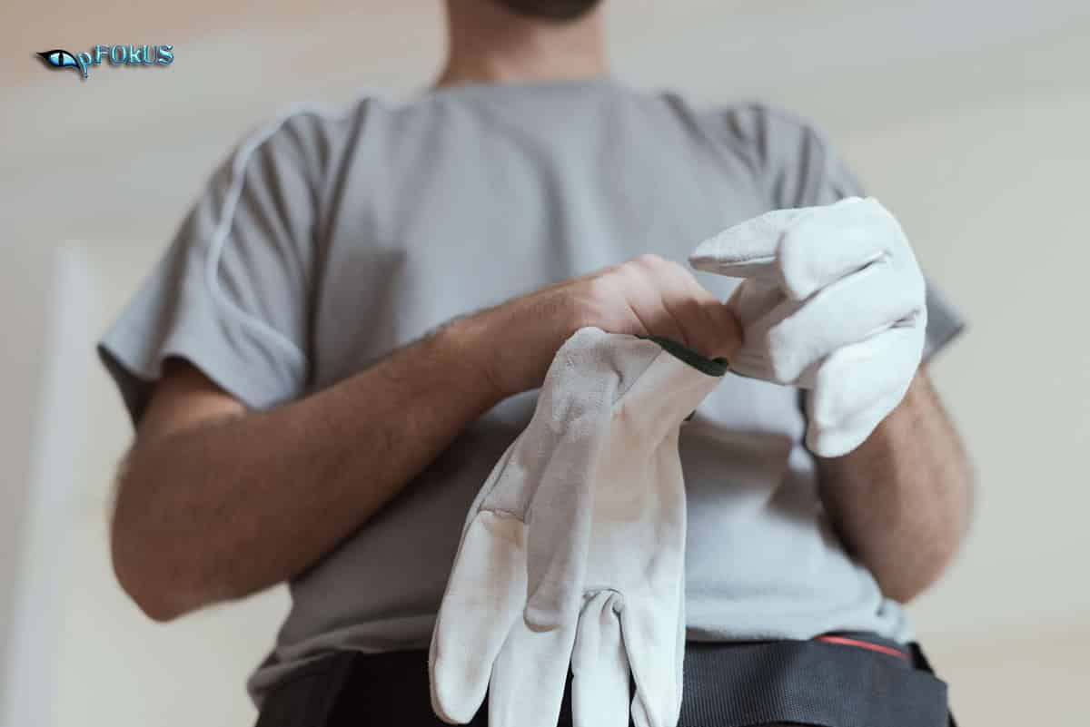 Man Getting Ready to Work on Thanksgiving DIY Project