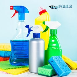 avoid acidic cleaners - use pFOkUS products