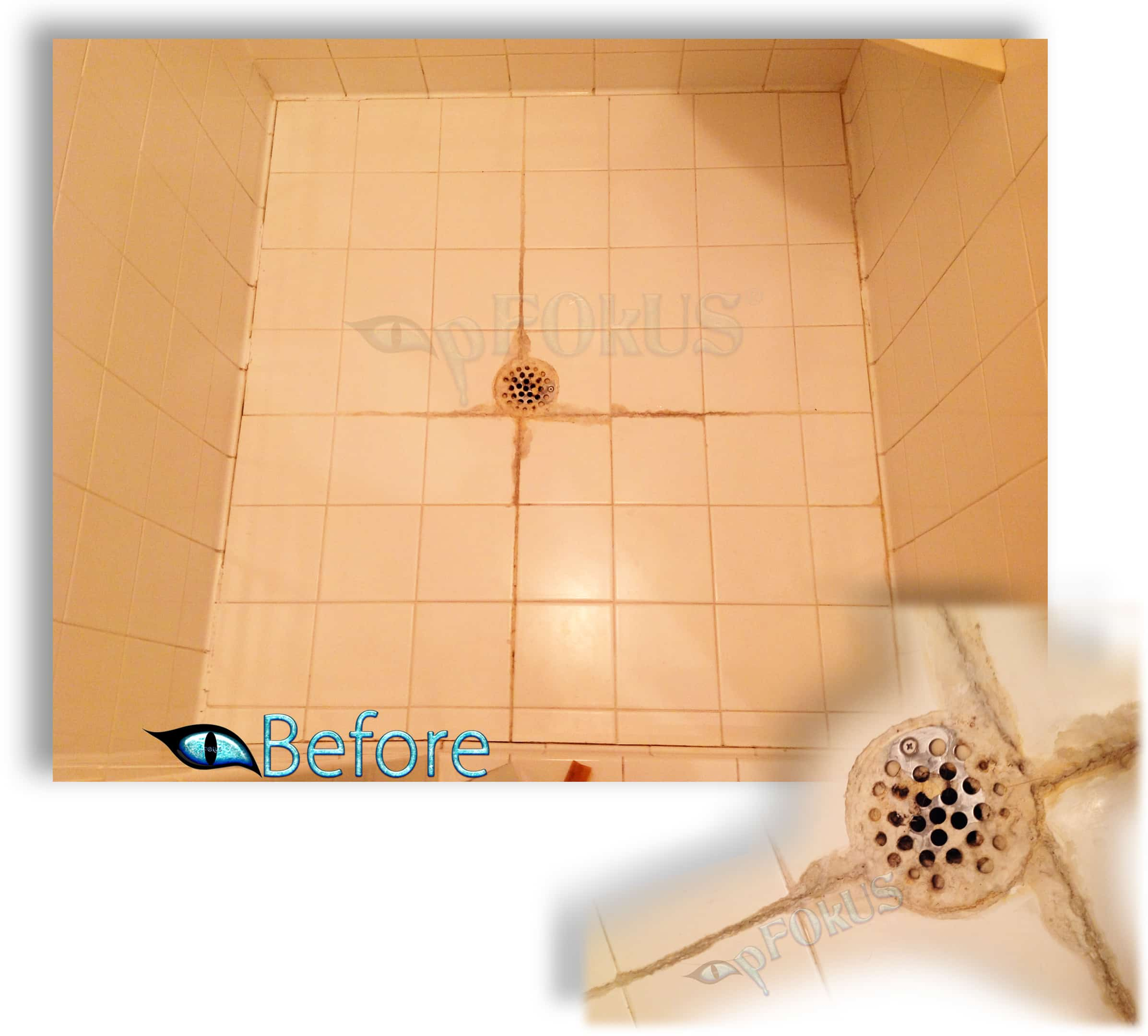 Shower Floor Grout & Efflorescence cleaner and remover | Zido