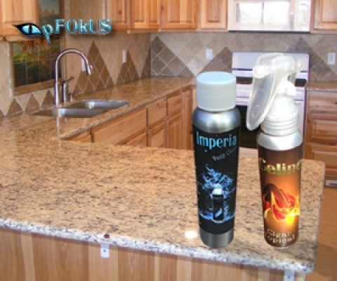 How to Seal Travertine Countertops with pFOkUS Sealer : Celine