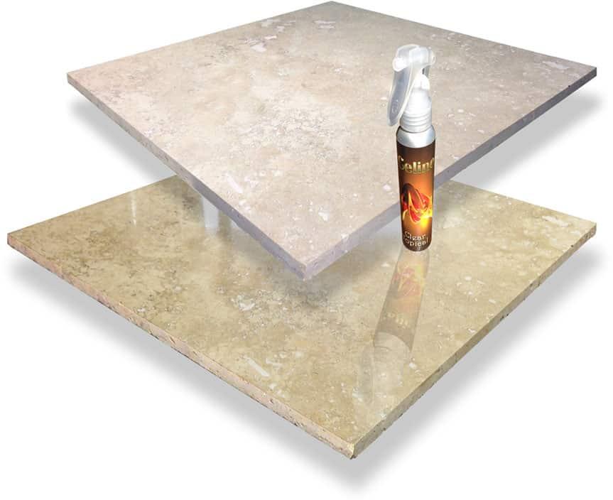 Travertine floor shine - pFOkUS