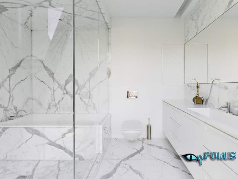 White Marble Bathroom Maintenance tips - pFOkUS