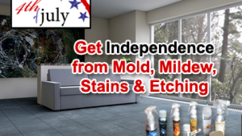 Declare Independence this 4th of July from Common Villains like Mold, Mildew, Stains and Etching | Secret Tips Decoded