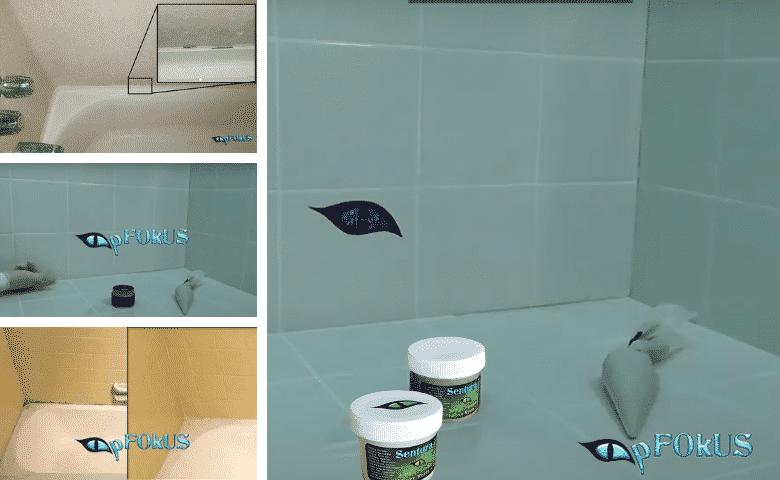 pFOkUS Sentura - an Epoxy Shower Caulk -caulk substitute