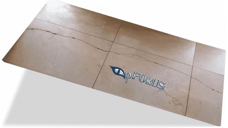Travertine Tile crack sealer - pFOkUS Sentura product