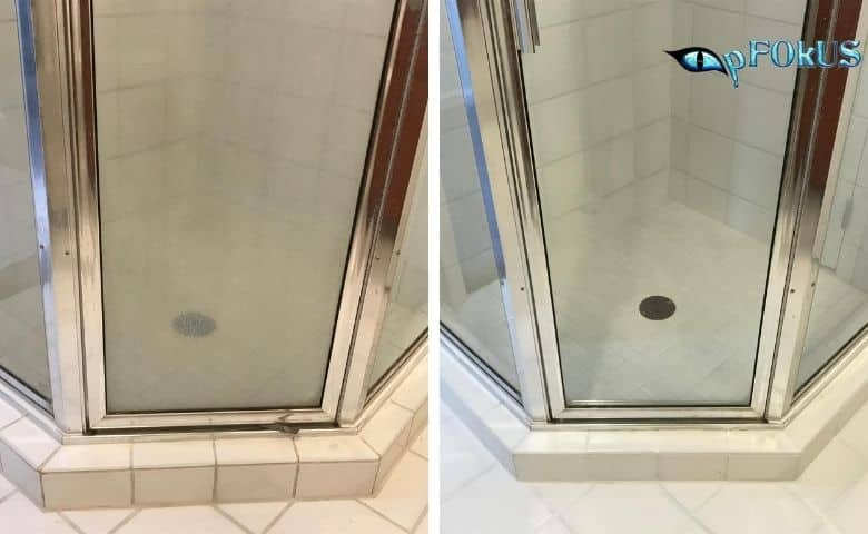 Superfluous Stains and Dirt on Shower Glass Doors - Essential Cleaning Products